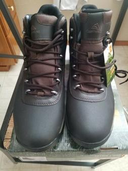 Ozark Trail Mens Bronte Mid Waterproof Hiking Boots Brown Si