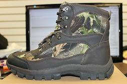 Mens Kingshow Brown/Camo Work Boots Insulated Stylish New in