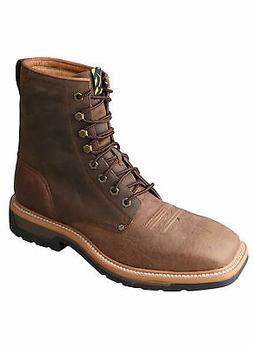 Twisted X Mens Brown Leather Steel Toe 8in Lite Weight Cowbo