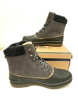 Global Win Mens Brown Snow Boots Size 10.5 Warm Lined Duck B