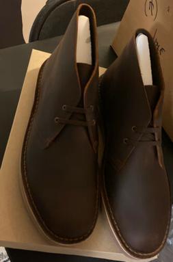 MENS CLARKS BUSHACRE  COLOR:DARK BROWN DESERT BOOTS Size US