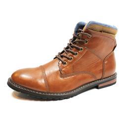 Mens Cap Toe Ankle Dress Derby Boots Lace Up Modern Denim Fr