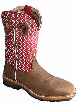 Twisted X Mens Cherry Leather Steel Toe Lite Weight Cowboy W