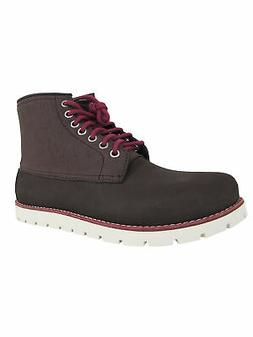 Crocs Mens Cobbler 2.0 Lace Up Boot Shoes, Mahogany/Stucco,