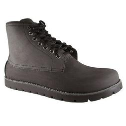 Crocs Mens Cobbler 2.0 Lace Up Boot Shoes, Black/Black, US 1