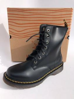 Mens Combat Boots Motorcycle Black Lace Up Size 9