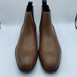 Calvin Klein Mens Corin Chelsea Ankle Boots Brown Tan Tumble