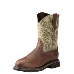 Ariat® Mens Everett Dark Chocolate Sage Work Boots 10022550