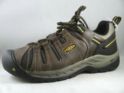 Keen Mens Flint II 2 Soft Toe Utility Work Boots Shoes Brown