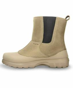 CROCS Mens Greeley Khaki Ankle Clog Boot sz m8 NEW