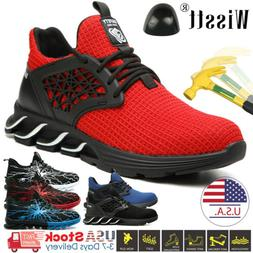Mens Indestructible Work Boots Safety Shoes Steel Toe Sneake