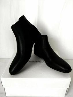 Calvin Klein Mens Larry Tumbled Leather Calf Suede Ankle-Hig