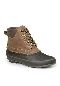 Izod Mens Marsh Leather Round Toe Ankle Fashion Boots
