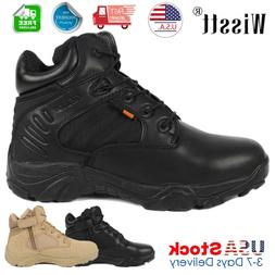 Men's Tactical Military Boots Outdoor Hiking Desert Ankle Sh