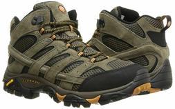 Merrell Mens Moab 2 Mid Vent Hiking Boot Walnut sz 10 W Wide