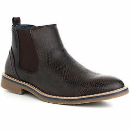Alpine Swiss Men's Nash Chelsea Boots Snakeskin Genuine Le