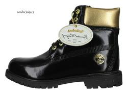 """Timberland Mens """"Premium 6 Inch Limited Edition"""" Black Gold"""