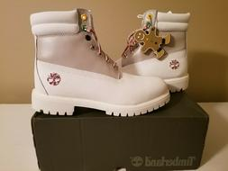 """Timberland MENS Premium 6"""" White Leather Boots LIMITED Holid"""