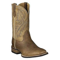 Ariat Mens Quickdraw Square Toe Cowboy Boot Brown Bark 10002