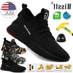 Men Work Boots Safety Shoes Steel Toe Cap Sneakers Lightweig