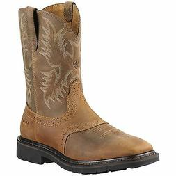 Ariat Mens Sierra Wide Square Toe Steel Toe Aged Bark 100101