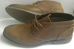 Mens Size 12 Boots IZOD Dark Brown Oxford Boots Tan Dress Ca