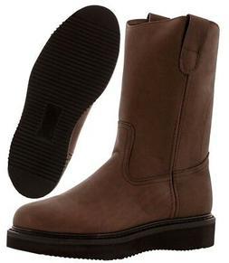 Men's Brown Leather Oil Water Slip Resistant Durable Work Bo