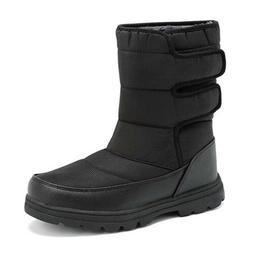 Mens Snow Boots Fur Fleece Lined Waterproof Winter Warm Shoe