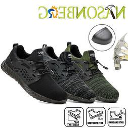 Mens Steel Toe Safety Shoes Work Boots Industrial Constructi