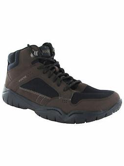 Crocs Mens Swiftwater Hiker Mid Boot Shoes, Espresso/Black,