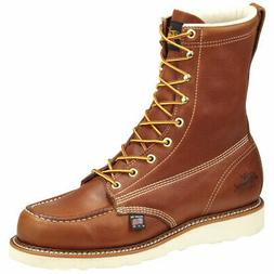 Thorogood Mens Tobacco 8in ST American Heritage Leather Wedg