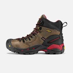 "KEEN Mens Utility Pittsburgh Steel Toe Work Boots Bison ""EE"