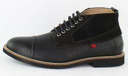 BRUNO MARC NEW YORK Mens Williamsburg Black Ankle Boots Size