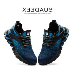 Mens Work Boots Sneaker Walking Waterproof Steel Toe Safety