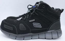 Skechers Mens Work Non Slip ESD High Top Boots alloy toe SZ