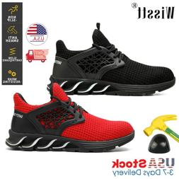Mens Work Safety Shoes Steel Toe Boots Indestructible Hiking