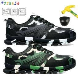 Mens Work Safety Steel Toe Cap Boots Industrial Construction