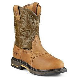 Ariat Mens WorkHog Waterproof Western Work Boot Aged Bark Ar