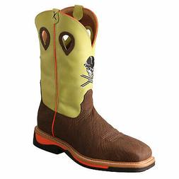 Twisted X Mens Yellow Leather Steel Toe Lite Weight Cowboy W