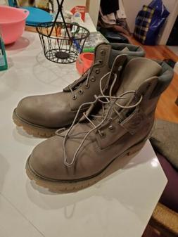 Military Gray Timberland Boots Men Sz 10