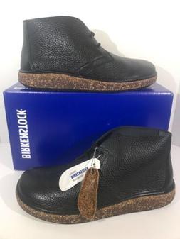 Birkenstock Milton Men's Sz 11 Reg Fit Black Pebbled Leather