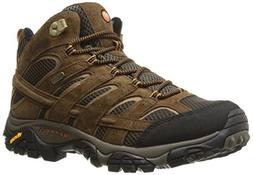 Merrell Men's Moab 2 Mid Waterproof Hiking Boot, Earth, 10.5