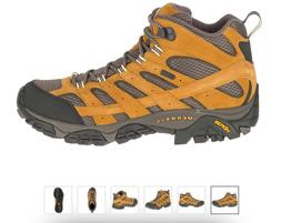 Merrell Moab 2 MID WP Waterproof Gold Hiking Boot Shoe Men's