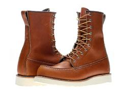 "Red Wing Heritage Men's 8"" Classic Moc Toe Boot, Oro Legacy,"
