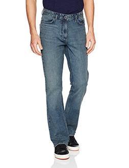 Calvin Klein Men's Modern Boot Cut Jean, Atlas Blue, 34W 32L