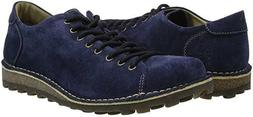 Fly London Mopy962fly mens dk blue laceup suede derby oxford