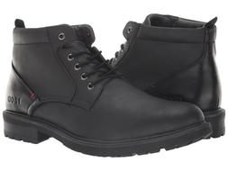 IZOD NEAL Mens Black Casual Lace Up Boots