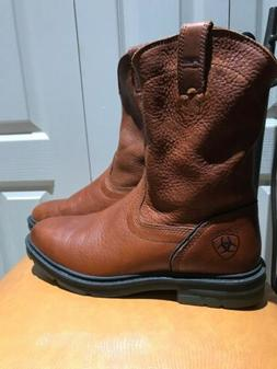 New Ariat ATS Technology Pull On Work Boots Men's 11 D