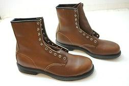 NEW RED WING BROWN LEATHER STEEL TOE # 2233 WORK BOOTS MENS