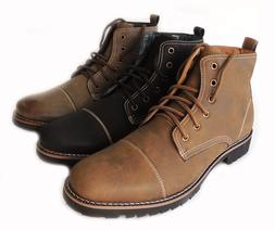 NEW FERRO ALDO MEN ANKLE BOOTS MILITARY COMBAT STYLE LEATHER